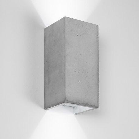 GANTlights B8 wandlamp van beton Lichtgrijs - ZILVER
