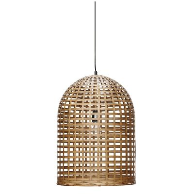 HUBSCH INTERIOR - Bamboe hanglamp naturel 42x60cm (967004)