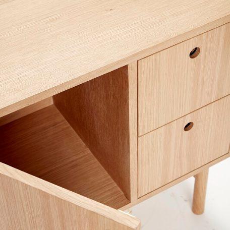 HUBSCH INTERIOR - Dressoir met lades en deur - naturel eiken (880603)