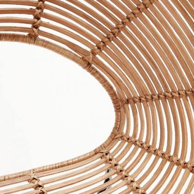 HUBSCH INTERIOR - Rotan Loungestoel rond - naturel_zwart metaal (110608)