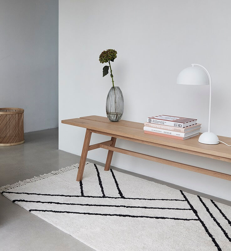 hubsch interior naturel eiken eetkamerbankje. Black Bedroom Furniture Sets. Home Design Ideas