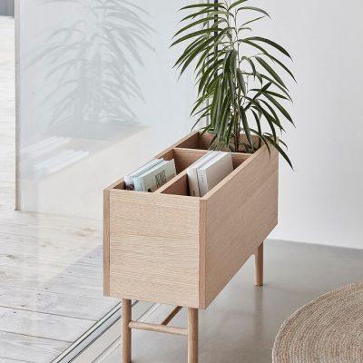 Hubsch Interior - Plantenbak, lectuurbak van eiken 80x30xh50 cm (880607)