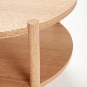 Hubsch Interior - Vintage ronde salontafel, eiken 60x60xh44 cm (880619)