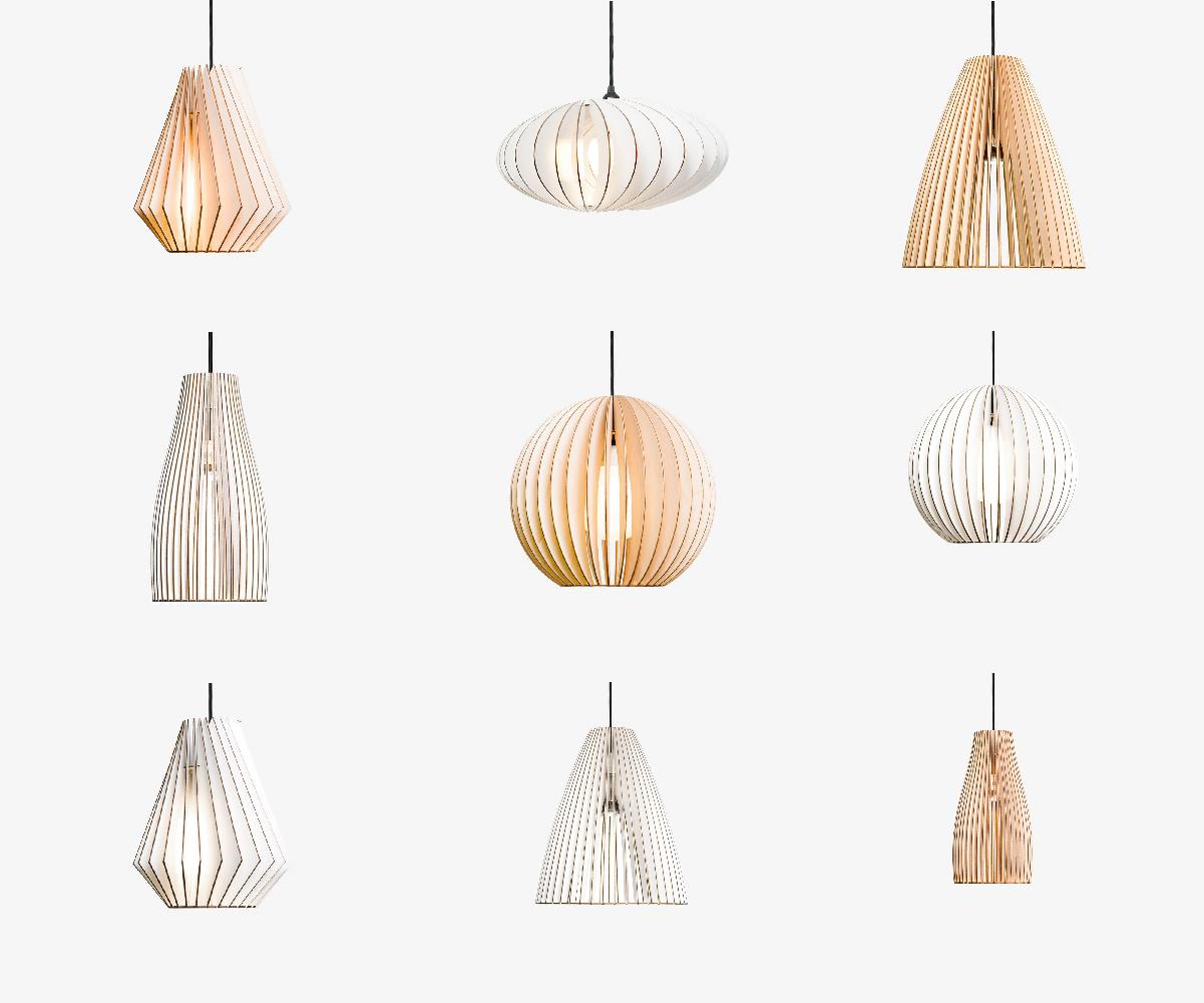 IUMI - Houten Hanglampen - Hanglampen van berkenfiineer