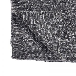 Hubsch Interior - Donkergrijs lamswollen plaid - 130x200cm - (220301)