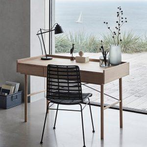 Hubsch Interior - Eiken bureau met drie lades - 120x62xh84cm - (880616)