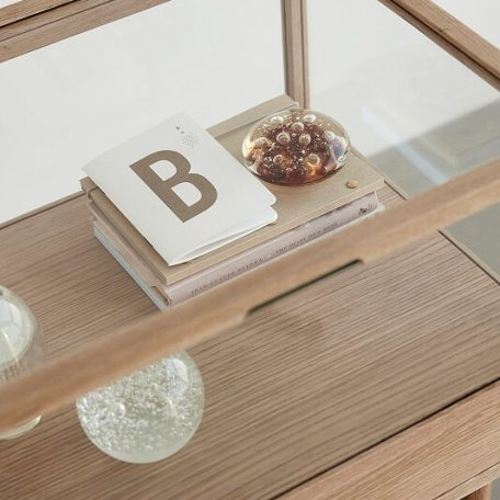 Hubsch Interior - Eiken displaykastje vitrinekastje50x40xh75cm (880617)