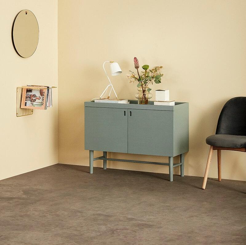 hubsch interior groen dressoir met twee. Black Bedroom Furniture Sets. Home Design Ideas