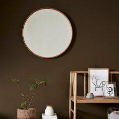 Hubsch Interior - Grote ronde spiegel van bamboe - 80x6cm - (240601)