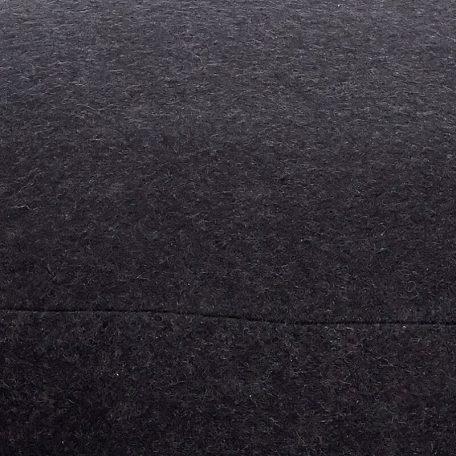 Hubsch Interior - Grote ronde zwarte POEF van wol, 75x35cm (709006)