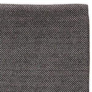 Hubsch Interior - Hamam plaid van zwart met wit katoen - 140x200cm - (390605)