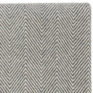 Hubsch Interior - Plaid van zwart wit wol met visgraat motief - 130x200cm - (500116)