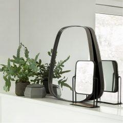Hubsch Interior - Rechthoekige make-up spiegel mat zwart - 19x8xh27cm - (210508)