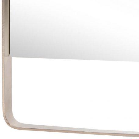Hubsch Interior - Rechthoekige metalen wandspiegel - 31xh76cm - (340202)
