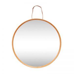 Hubsch Interior - Ronde spiegel van bamboe - 60x6cm - (240403)