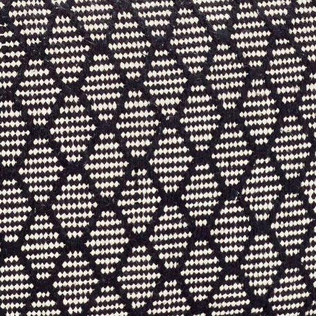 Hubsch Interior - Vierkante POEF van zwart-wit katoen (740702)