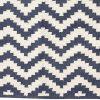 Hubsch Interior - Vloerkleed van blauw en naturel katoen - 120x180cm - (500119 )