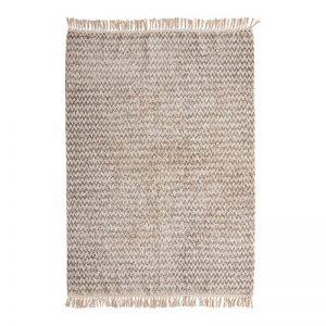 Hubsch Interior - Vloerkleed van grijs en naturel katoen - 810602 (1)