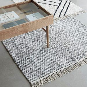 Hubsch Interior - Vloerkleed van grijs en naturel katoen - 810602 (5)