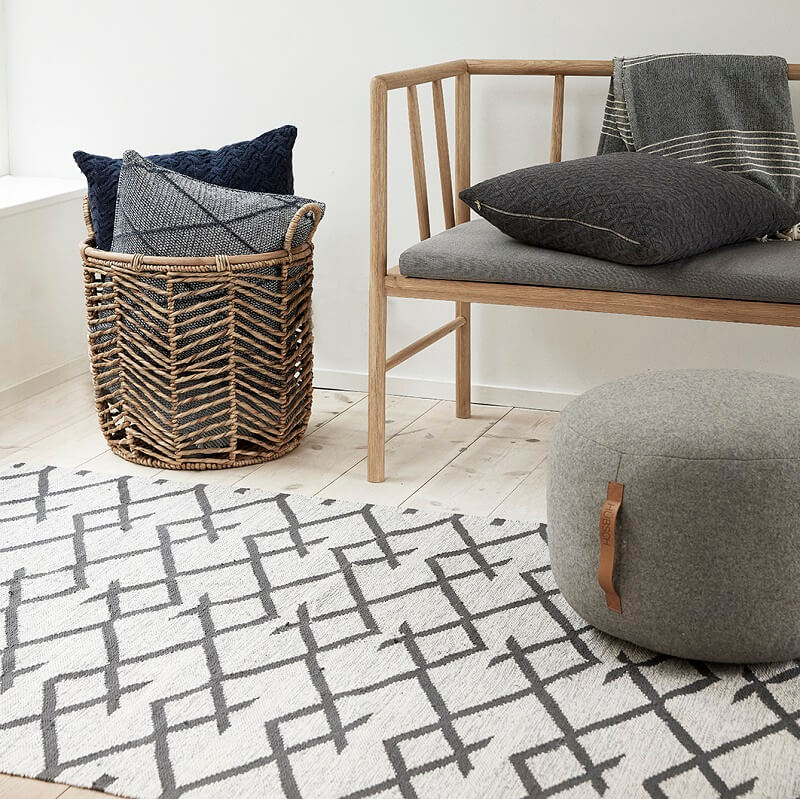 hubsch interior vloerkleed van naturel. Black Bedroom Furniture Sets. Home Design Ideas