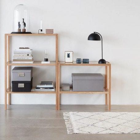 Hubsch Interior - Vloerkleed van wit en grijs katoen - 90x150cm (740303)_5