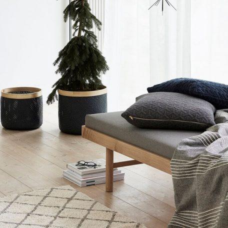 Hubsch Interior - Vloerkleed van wit en grijs katoen - 90x150cm (740303)_8