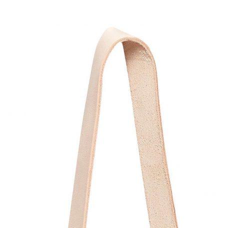 Hubsch Interior - Witte hangpotten met leren band12xh60cm - (140304)