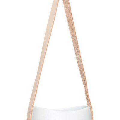 Hubsch Interior - Witte hangpotten met leren band12xh60cm - (140304)_3