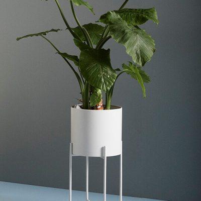 Hubsch Interior - Witte plantenbakken, set van twee stuks (940512)