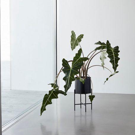 Hubsch Interior - Zwarte plantenbakken, set van twee stuks (940601)