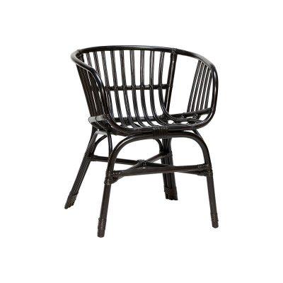 Hubsch Interior - Armstoel, terrasstoel van zwart rotan (310307)