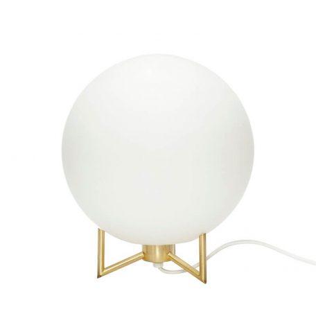 Hubsch Interior - Bollamp van melkglas - 26xh30cm - (890506)
