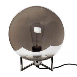 Hubsch Interior - Bollamp van rookglas - 26xh30cm - (890626)