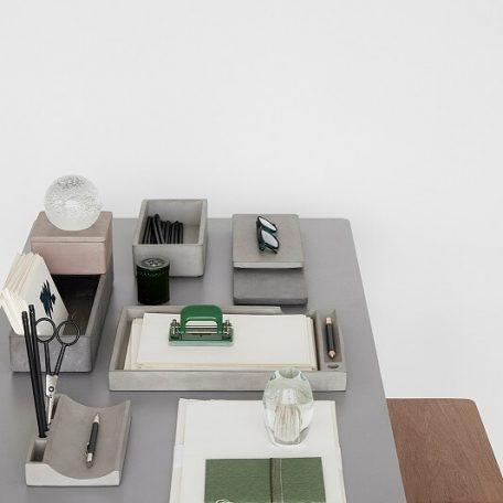 Hubsch Interior - Eiken bureau met grijs blad - 110x57xh75cm - (880519)