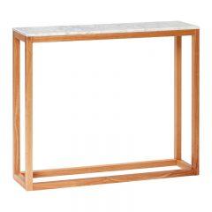 Hubsch Interior - Eiken console met wit blad van marmer -90x25xh75cm - (050403)
