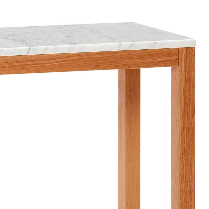 hubsch interior eiken console met wit. Black Bedroom Furniture Sets. Home Design Ideas