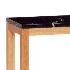 Hubsch Interior - Eiken console met zwart blad van marmer -90x25xh75cm - (050404)