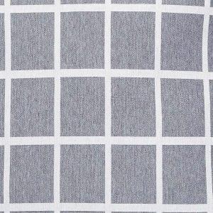 Hubsch Interior - Geblokt kussen grijs met lichtgrijs - 60x60cm - (200305)