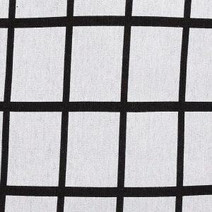 Hubsch Interior - Geblokt kussen lichtgrijs met zwart - 60x60cm - (200304)