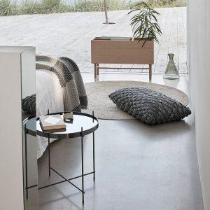 Hubsch Interior - Groot sierkussen van zwart en naturel katoen - 50x80cm - (220603)