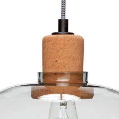 Hubsch Interior - Hanglamp van blauw glas en fitting van kurk - (950412)