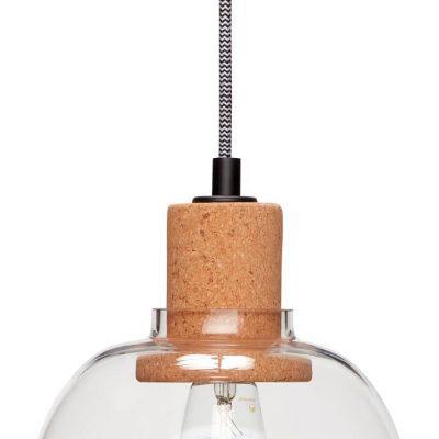 Hubsch Interior - Hanglamp van glas en fitting van kurk - 950414