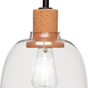 Hubsch Interior - Hanglamp van glas en fitting van kurk - (950414)