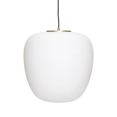 Hubsch Interior - Hanglamp van opaalglas en messing - 40xh40cm - (990601)