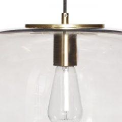 Hubsch Interior - Hanglamp van rookglas en messing - (990602)