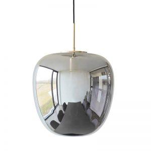 Hubsch Interior - Hanglamp van spiegelglas en messing (990602)