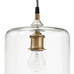 Hubsch Interior - Karaf hanglamp van glas met messing fitting - (320101)