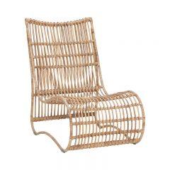 Hubsch Interior - Loungestoel van rotan, naturel - 58x86xh89cm - (310309)