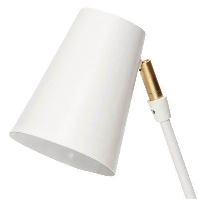Hubsch Interior - Mat witte verstelbare tafellamp, messing voetjes (370409)