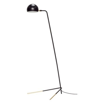 Hubsch Interior - Mat zwarte verstelbare vloerlamp met messing poten - 62x80xh150cm - (370411)